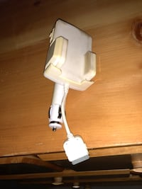 white smartphone holder with vehicle charger Fort Saskatchewan, T8L
