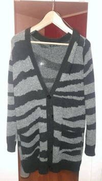 cardigan button-up grigio e nero Vaccarolo, 25015