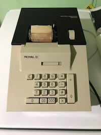 Parts only or for repair.  Adding machine powers on but keys will not depress. 1080 mi