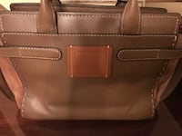 brown leather 2-way bag null