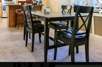 rectangular brown wooden table with four chairs dining set Philadelphia, 19131