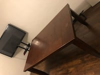 brown wooden desk with black rolling armchair Las Vegas, 89113