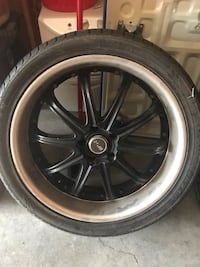 Black tires and wheels Waukee, 50263