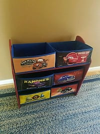 Cars storage totes and rack Aspers, 17304