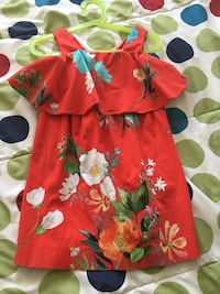 red and green floral dress Laval, H7N 2E6