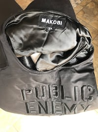 Vest 2XL. New. Public Enemy. Black. Couture