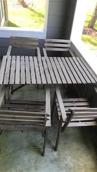 Brown Ikea Patio Table w/4 chairs Ellicott City, 21043