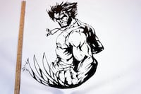 Wolverine Big decal sticker Farmersville, 93223