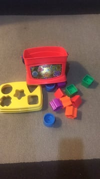 Toddler's multicolored plastic toy