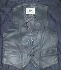 Men's Burk's Bay Leather Vest Size S Rockville, 20850