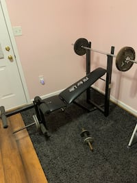 Weight bench and weights Hagerstown, 21740