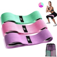 3 Fabric Resistance Bands NEW