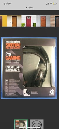 steelseries Siberia V2 headset headphone with retractable mic Vancouver, V5X