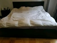 Ikea king size black bed frame with 4 drawers
