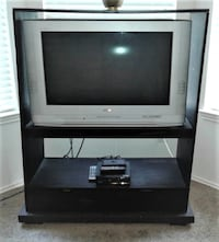 """$50  30"""" Screen Sanyo Tube TV with Stand"""
