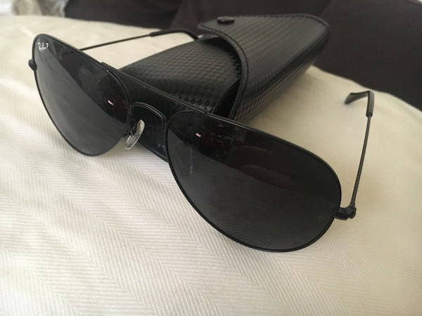 ebe04bde5ac4 Used Black framed ray-ban aviator sunglasses for sale in Richmond ...