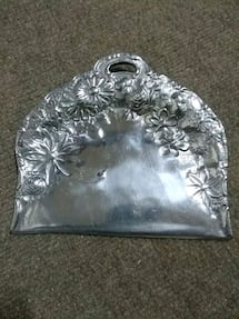 Decorative Pewter Dust Pan
