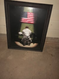 A very nice picture of a soldier praying I paid more for what I'm selling it for I'll go down in price Wichita Falls, 76311
