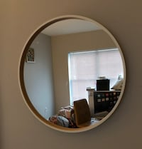 round brown wooden framed mirror Medford, 02155