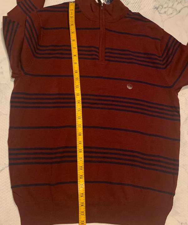 NWT Chaps Men's Striped Mockneck Sweater Large 3