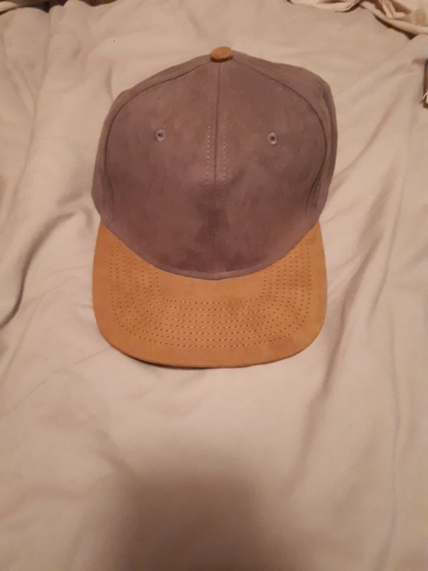 brown suede fitted cap