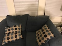 Sofa and love seat with two end tables and laps