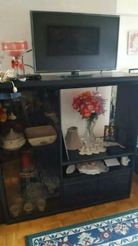 black and gray wooden TV stand Toronto, M1J 2G6