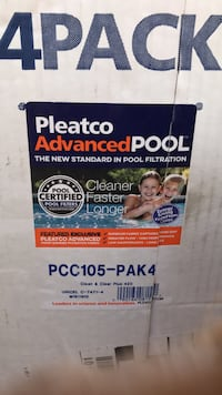Pleatco Advanced Pool filters set of 4 new