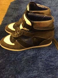 pair of brown-and-white high top sneakers Lake Forest, 92630