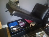 Black leather sectional Toronto, M4M 1Y2