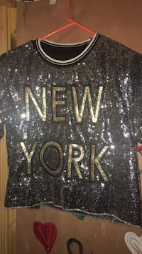 Silver & Gold shimmer top New York, 10453