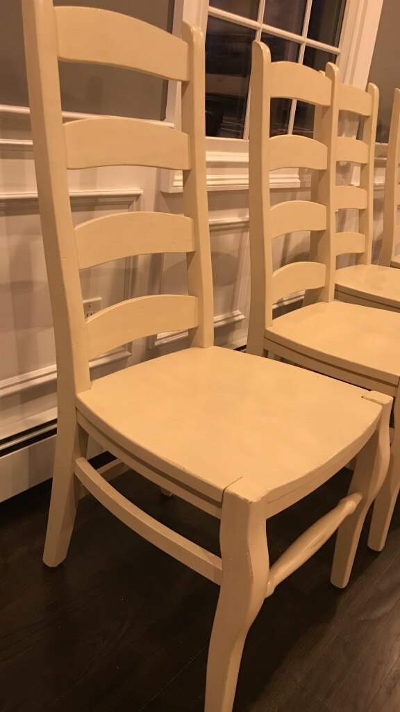 Used 4 Pottery Barn Wynn High Quality Ladder Back Chairs For Sale In Dix  Hills