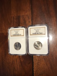Two NGC graded Oregon Quarters Breinigsville, 18031
