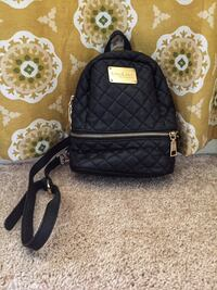 black and gray leather backpack 884 mi