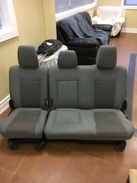 grey and black car bucket bench