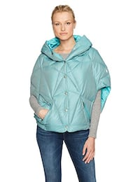 NEW Spyder Active Sports Women's Solitude Down Poncho Baltic Med  Toronto