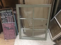 gray wooden framed glass cabinet Duncan, V9L