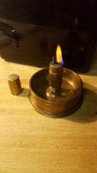 Brass Lighter & Ashtray