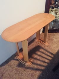 """Accent Table, solid wood oak. Measurements are 18"""" by 48"""", 27"""" high   Ormond Beach, 32174"""