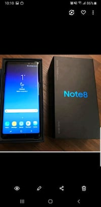 Perfect condition note 8 unlocked  Brampton, L6R 1X5