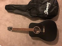 black acoustic guitar with case Calverton, 11933