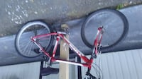 red and black hardtail mountain bike Surrey