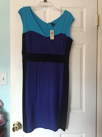 Blue and purple v-neck sleeveless mini dress Springfield, 22151