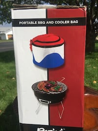 """Portable grill w carry case """"keeps your food cold.TAILGATE WITH EASE !"""