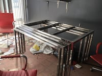 Chrome table with removable top (4x tables) (60 each)