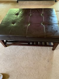 Large leather ottoman.  Newport News, 23603