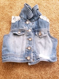 Justice denim jacket girl 5 kids cloth