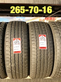 2 used tires 265/70/16 Constancy