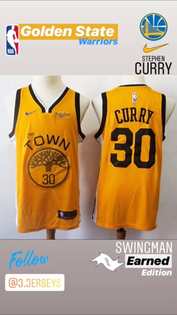 newest d12c8 0e51a NEW NBA Earned Edition SWINGMAN jersey - Golden State Warriors (Stephen  Curry)
