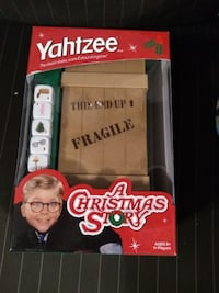 USAOPOLY A Christmas Story Yahtzee Game BNIB  Collectible Fragile Crate dice shaker is perfect for the A Christmas Story Fan Includes custom dice featuring movie icons A great family-friendly game  VIEW MY OTHER ADS!!!